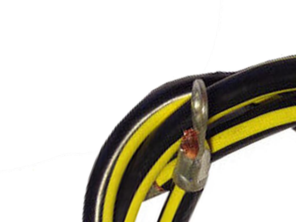 BATTERIEKABEL 14 mm2 30cm mit Ringösen M8 gelb schwarz Auto KFZ ...