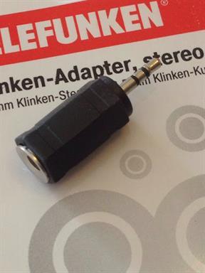 Telefunken Klinken-Adapter Stereo 3,5mm Kupplung (Buchse) auf 2,5mm Stecker