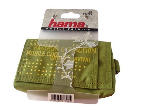 Hama Handy-Tasche Duo-Connect grün mit Gürtel-Lasche 6,5 x 1,5 x 11,5cm