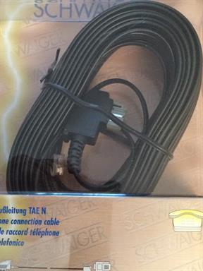 Telefon-Kabel Schwaiger Zusatzgeräte-Anschluss-Leitung TAE-N