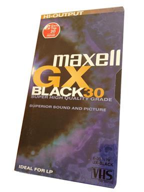 Maxell E 30 GX Black VHS Normal Videokassette Leerkassette Tape