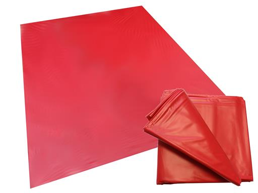 Sexlaken Qualititäts-Vinyl-Laken rot 180x260 cm matt waschmaschinenfest  kein Latex Lack