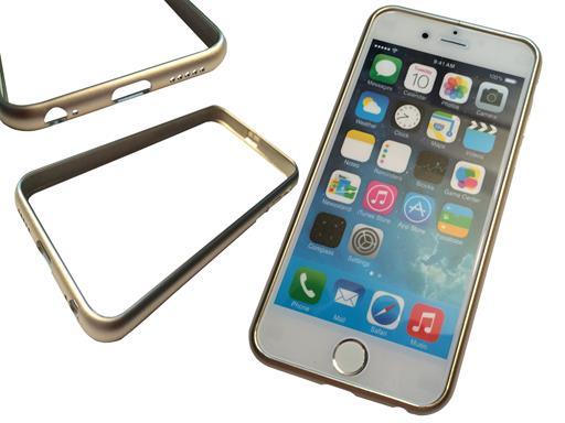 """eXODA Gold Bumper Case für iPhone 6 4.7"""" Schutz-Hülle Cover Metall Alu Gold"""