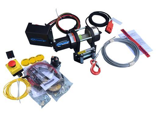 Seilwinde Ramsey ATV 8 Set mit Kabelfernbedienung, Stahlseil und Not-Halt