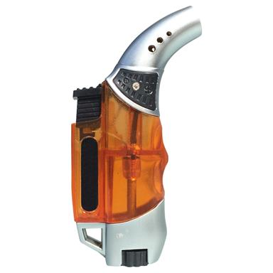 Design Gas-Sturm-Feuerzeug eXODA Pocket Torch ORANGE Mini Bunsen-Gas-Löt-Brenner
