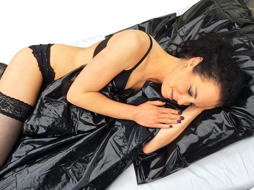 Sexlaken Bettbezug Vinyl Lack schwarz 135x200cm für Feuchtspiele Sexlaken von eXODA