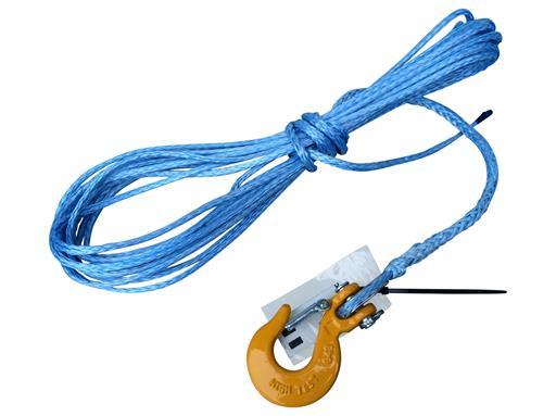 Synthetik Seil 5mm 10m für Seilwinde ATV- Quad- Dyneema SK78 Kunststoff-4x4 Offroad mit Haken