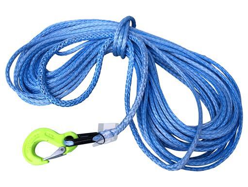 10mm 15m Synthetikseil aus Dyneema SK78 mit Kausche und Haken für Seilwinden Kunststoff 4x4 Offroad