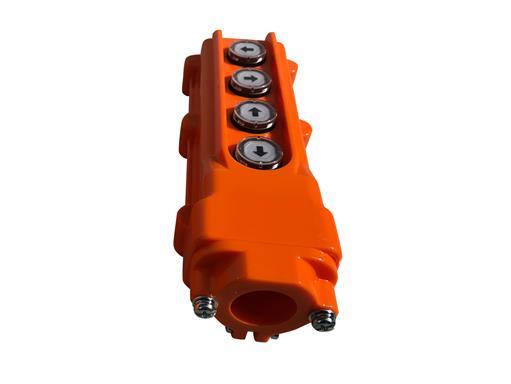 Schalter mit Rauf Hoch und Runter Funktion Taster Bedienstation Druckknopfschalter für Kran Seilwinde Anhänger 4 Tasten - 3 Jahre Garantie