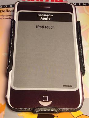 Hama Tasche Case Delicate Shell für iPod Touch / iPhone 4 4s 23595 Echt Leder