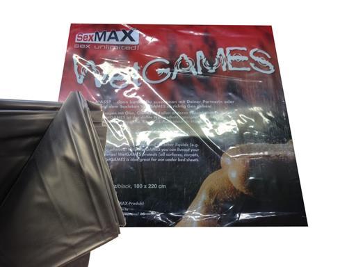 Sexmax Lack Qualtitäts-Laken Vinyl 180x220cm schwarz Bettlaken kein Latex Lack