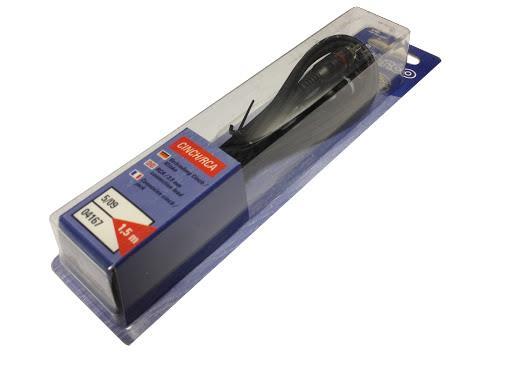 Vivanco Verbindungskabel 2x Cinch Stecker auf 3,5mm Klinke Stecker 1,5m