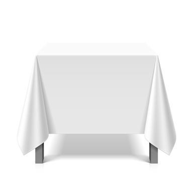 Tischdecke abwaschbar eckig Deko Vinyl weiss zuschneidbar Schutzbezug 200x230cm wasserdicht von eXODA