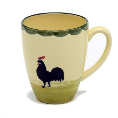 Zeller Keramik Milchkaffee Obertasse Hahn und Henne