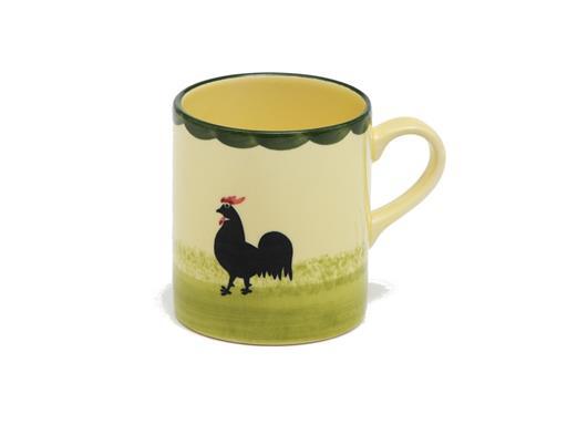 Zeller Keramik Becher Hahn und Henne 0,2l