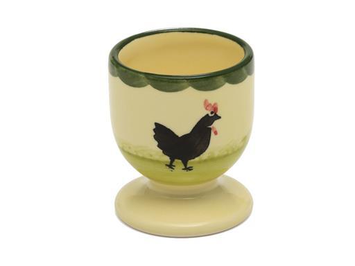 Zeller Keramik Hahn und Henne Eierbecher 6cm