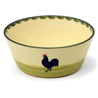 Zeller Keramik Hahn und Henne Schüssel konisch 23 cm