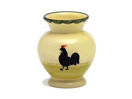Zeller Keramik Vase Hahn und Henne Blumenvase Dekoartikel Blumengefäß