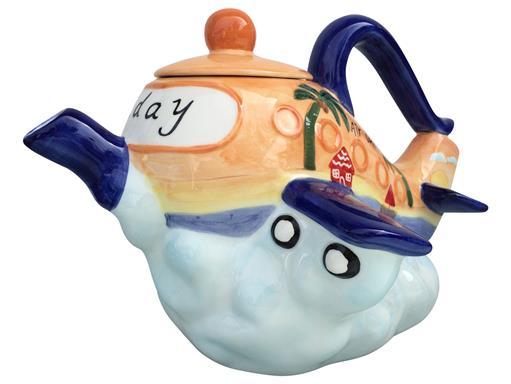 Jameson & Tailor Design Flugzeug Teapot Keramik Teekanne Dekor