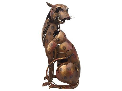 Gilde Gallery Grosse Skulptur Metall Serengeti Hunter 90cm