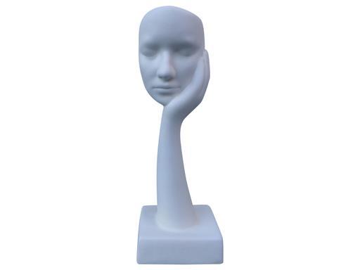 Gilde Skulptur Maske der Traum Creme 44cm