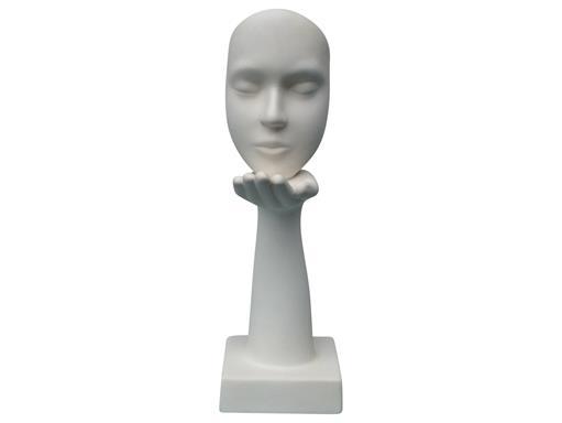 Gilde Skulptur Maske Der Handkuss 43cm Creme