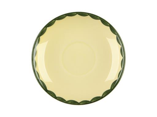 Zeller Keramik Hahn und Henne Untertasse 15cm Tasse/Schale für Tee oder Kaffee