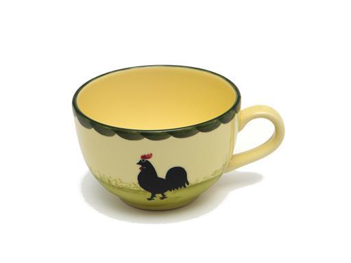 Zeller Keramik Obertasse Hahn und Henne Tasse 0,20 Liter Obertasse