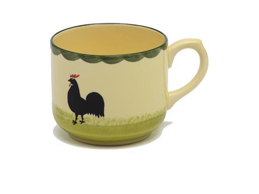 Zeller Keramik Hahn und Henne Tasse Jumbo Obertasse