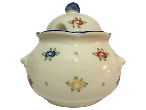 Zeller Keramik Petite Rose Zuckerdose/Geleedose 0,40 l