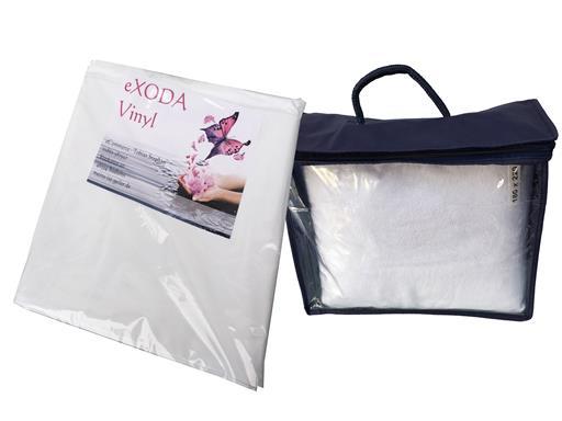 Inkontinenz Spannbettlaken Set mit Matratzenauflage aus Baumwolle und Vinyl Inkontinenzunterlage Wohlfühlkombi weiss 200x240 cm von eXODA