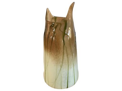 Vase Glas groß Selva Verde massiv grün beige braun 44cm vom Gilde