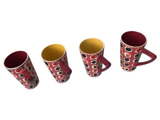 Milchkaffee Tasse groß Retro Dekor Shabby Chic Becher 4er Set von Jameson & Tailor