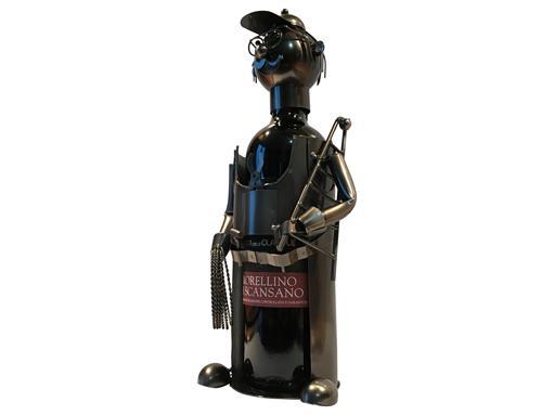 Weinflaschenhalter Metall Figuren Elektriker Frank Design Deko von eXODA