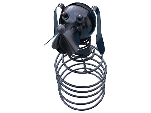 Hund Flaschenhalter Metall Weinflaschenhalter Figuren Design Deko von eXODA